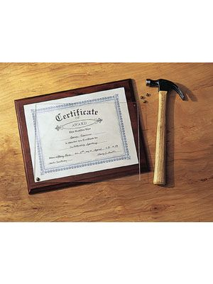 Certificate Plaque Kit