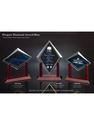 Elegant Diamond Award - Blue