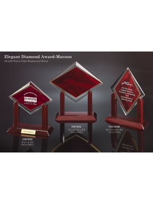 Elegant Diamond Award - Maroon