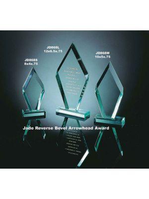 Jade Reverse Bevel Arrowhead Award